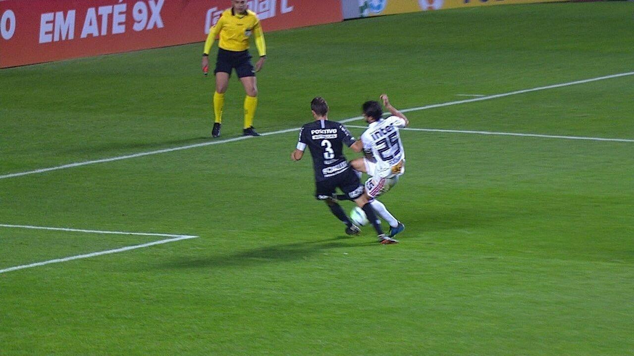 Confira alguns lances bloqueados por Henrique, do Corinthians, no Campeonato Brasileiro