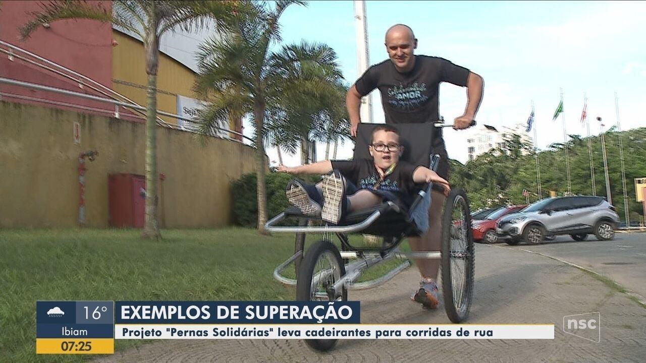 Projeto 'Pernas Solidárias' leva cadeirantes para corridas de rua