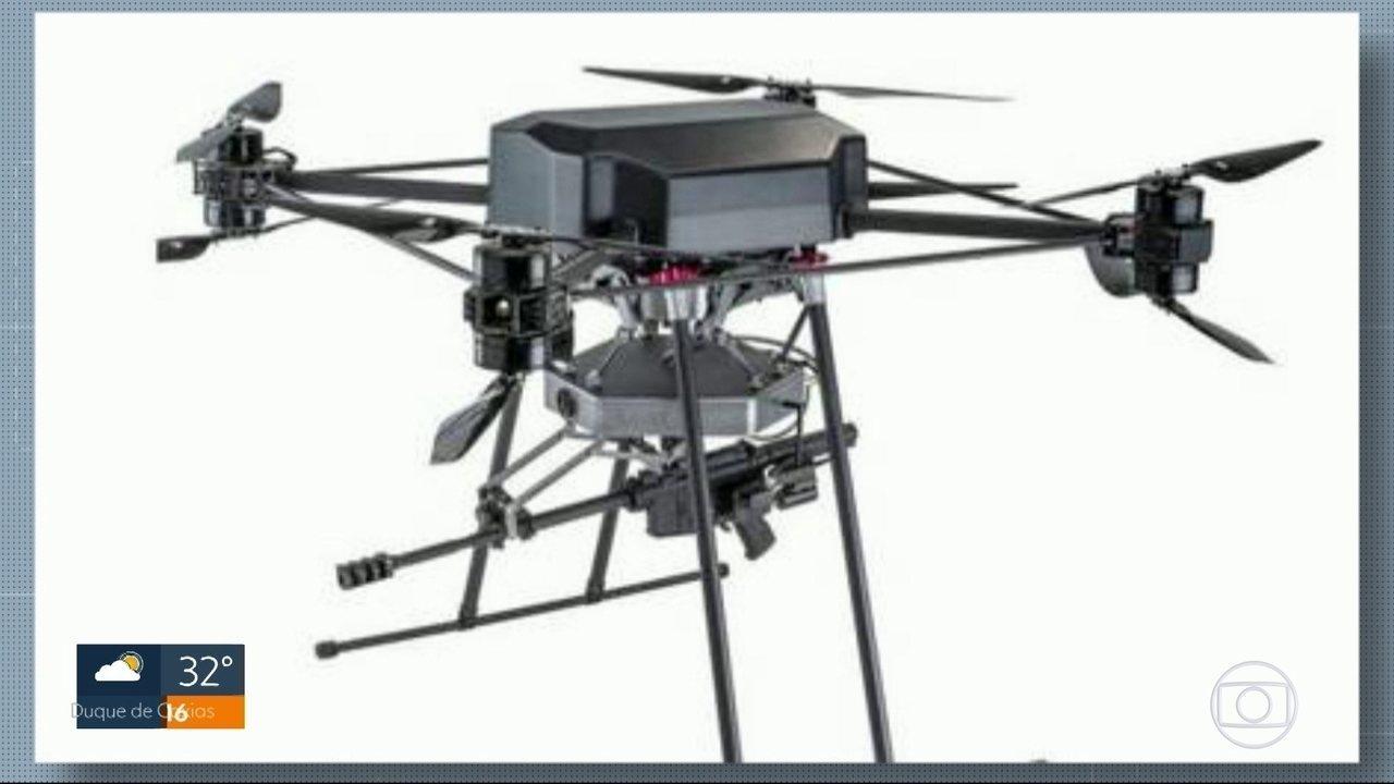 Especialista em segurança fala sobre ideia de usar drones capazes de atirar no Rio
