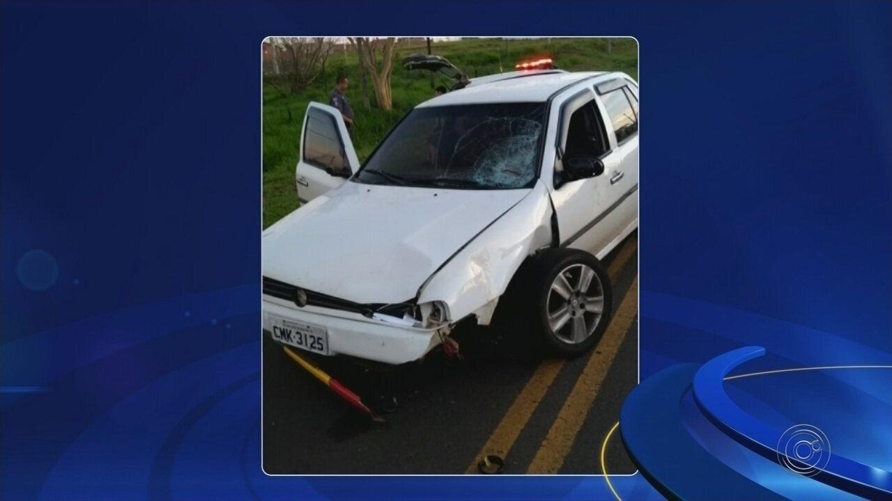 Motorista embriagado atropela grupo em estrada vicinal de distrito de Rio Preto