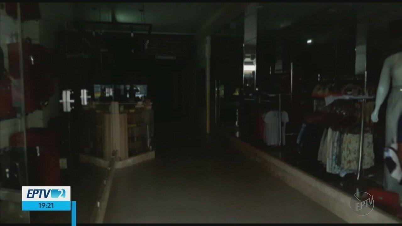 Poços de Caldas e cidades registram falta de energia elétrica no Sul de Minas