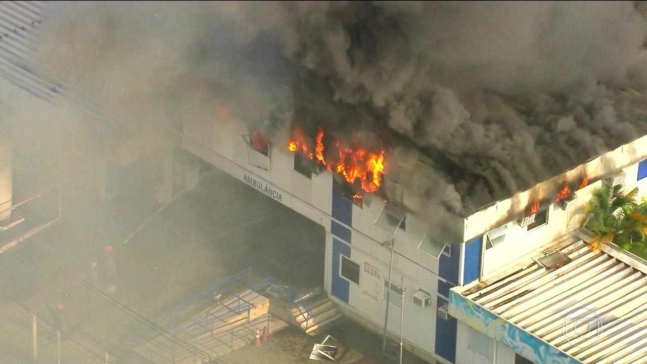 Incêndio atinge coordenação de emergências de hospital municipal do Rio
