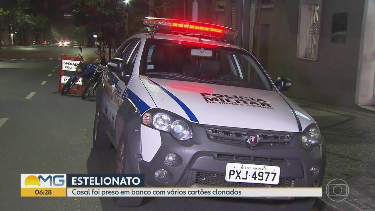 Casal suspeito de estelionato é preso em banco de Belo Horizonte