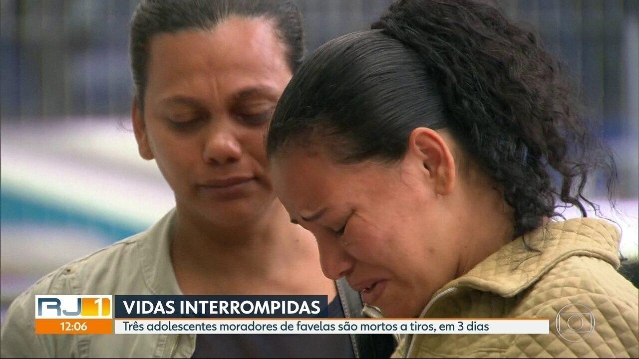 Três adolescentes são mortos a tiros nos últimos três dias no Rio
