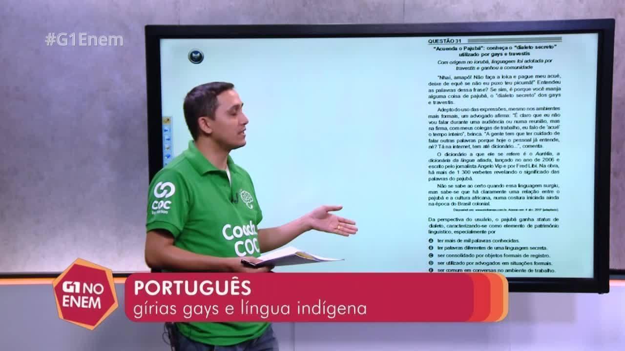 Enem 2018 – qual característica dá ao pajubá o status de dialeto?