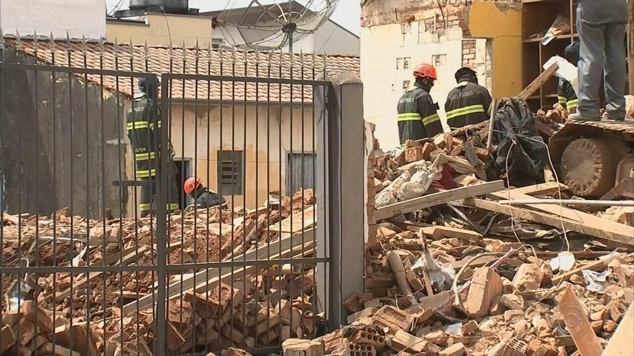Vítima de explosão em tubulação de gás segue internado em Jundiaí