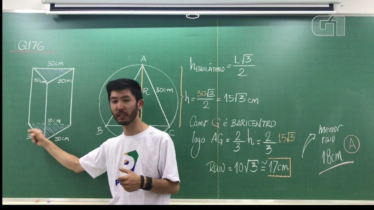Revisão Enem Matemática: resolução da questão 176 da prova cinza do Enem 2015