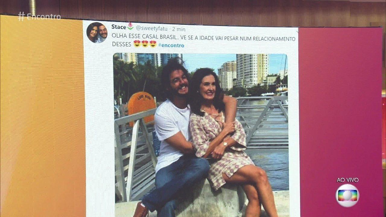 Fátima disse que se surpreendeu com seu sentimento ao conhecer o namorado, 25 anos mais novo
