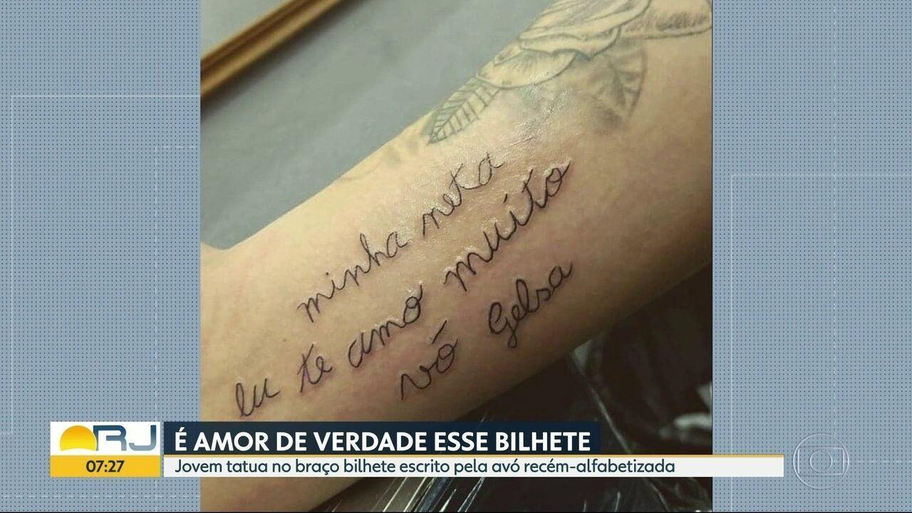 Em Tatuagem Neta Homenageia A Avó Recém Alfabetizada Rio De