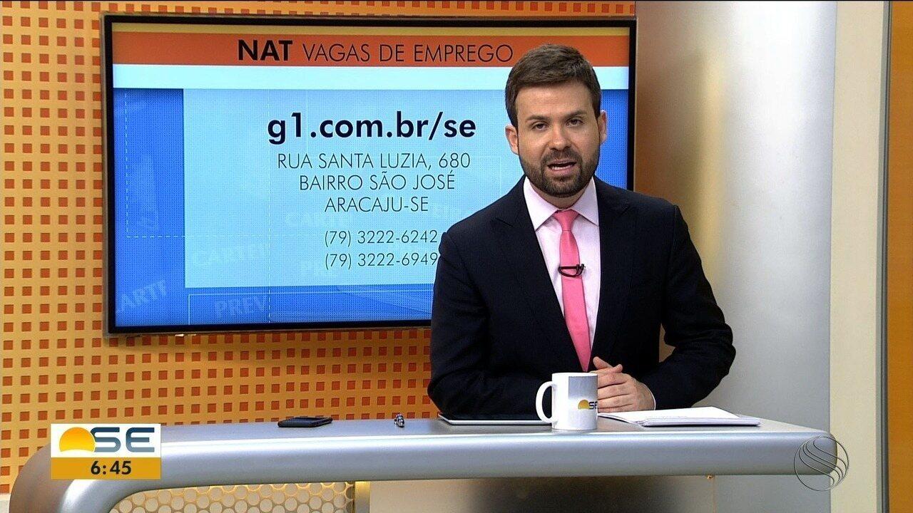 Confira as vagas de emprego oferecidas pelo NAT nesta sexta-feira (9)