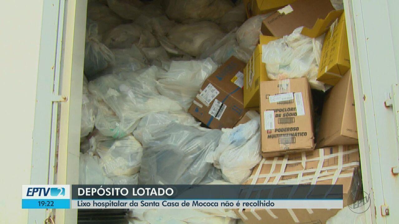 Lixo hospital da Santa Casa de Mococa não é recolhido há um mês e preocupa funcionários