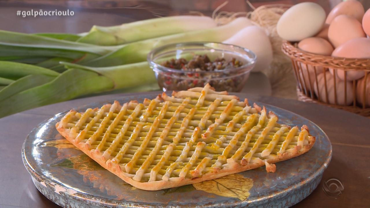 Pastelão de Alho Poró é a receita do Cozinha de Galpão