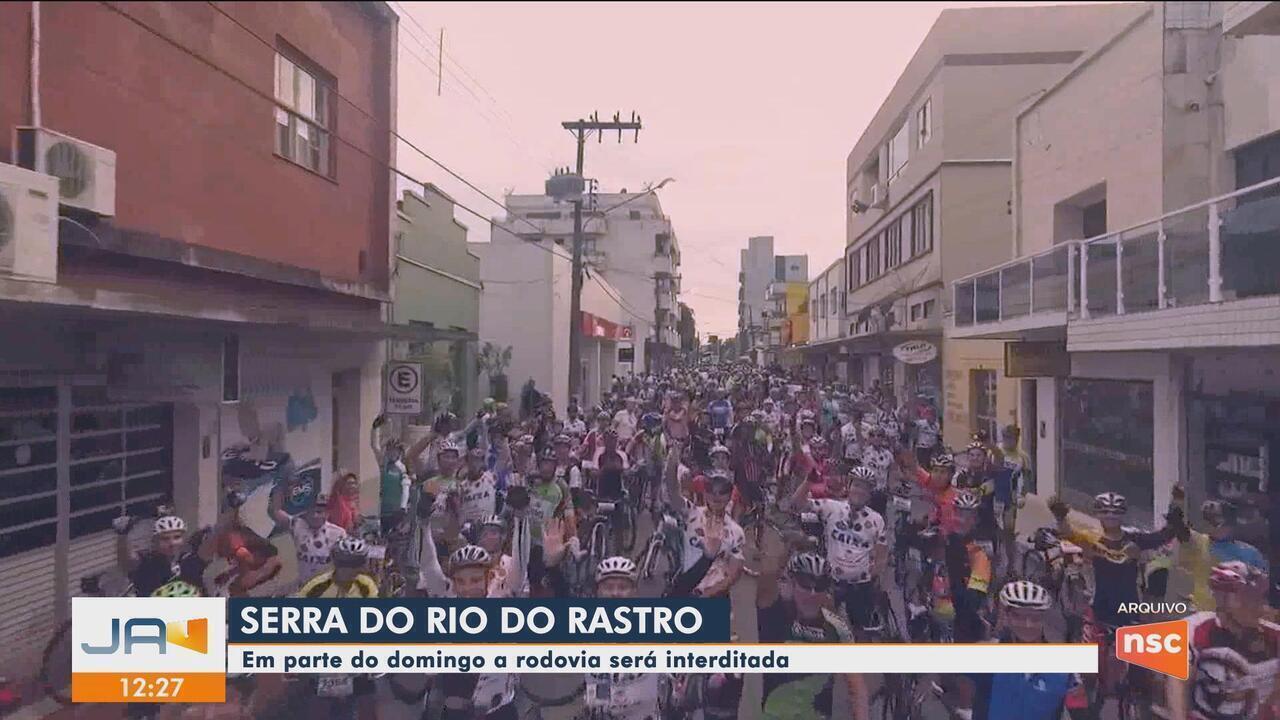 Prova ciclística interdita trecho da Serra do Rio do Rastro neste domingo (11)