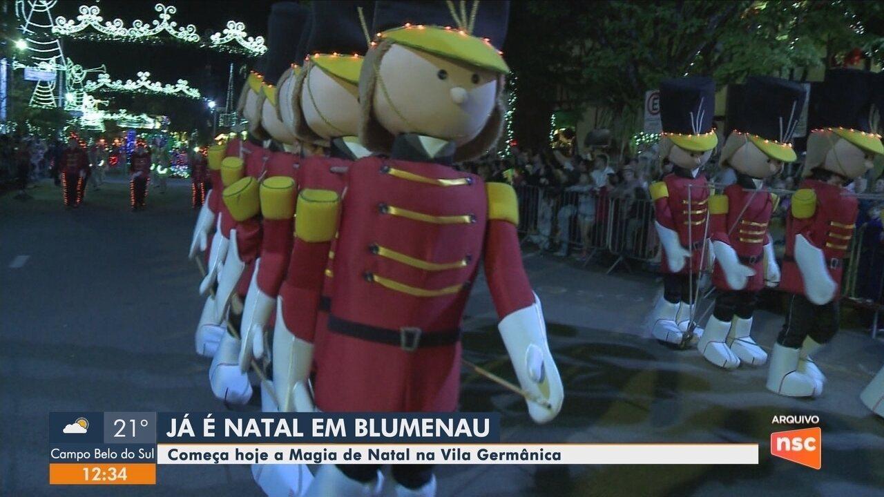 Magia de Natal começa neste sábado em Blumenau; confira os destaques desta edição