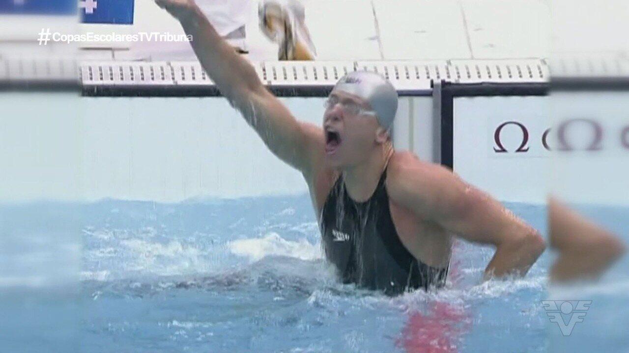 Cesar Cielo realiza clínica de natação em Santos