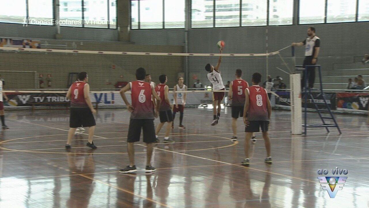 Ginásio do Sesc recebe rodada eliminatória da 4ª Copa TV Tribuna de Vôlei Escolar