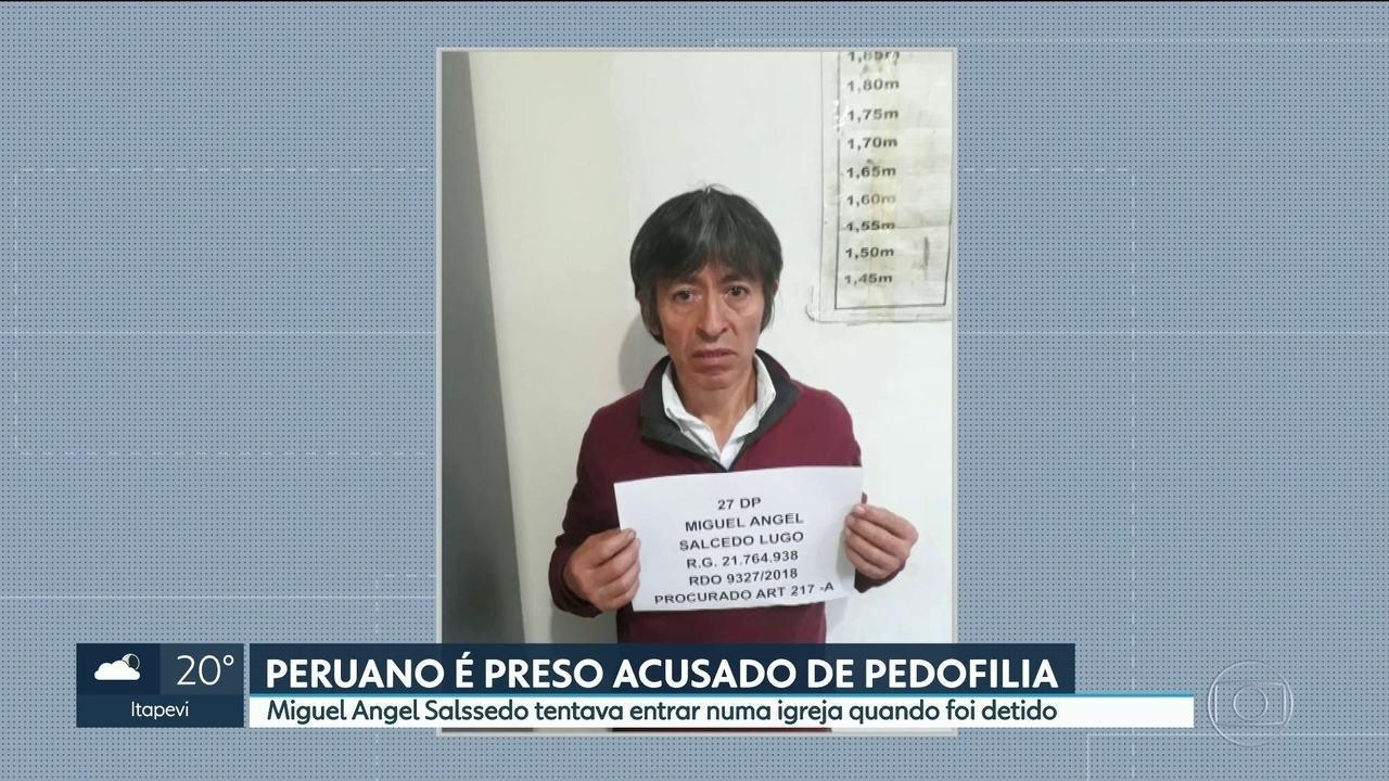 Peruano é preso acusado de pedofilia