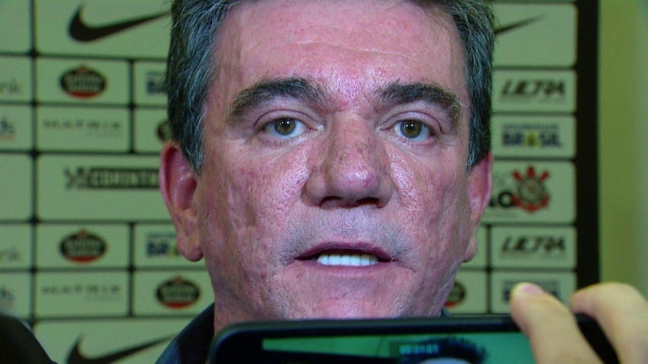 Andrés Sánchez reclama da arbitragem do clássico entre Corinthians e São Paulo