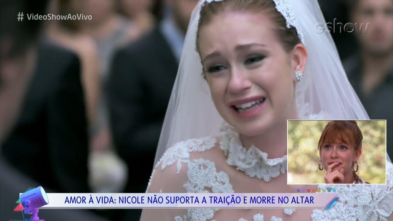 Marina Ruy Barbosa relembra casamentos desastrosos na dramaturgia