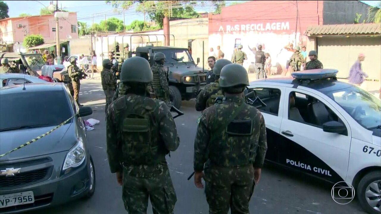 PM morre depois de furar dois bloqueios do Exército durante operação em Belford Roxo (RJ)