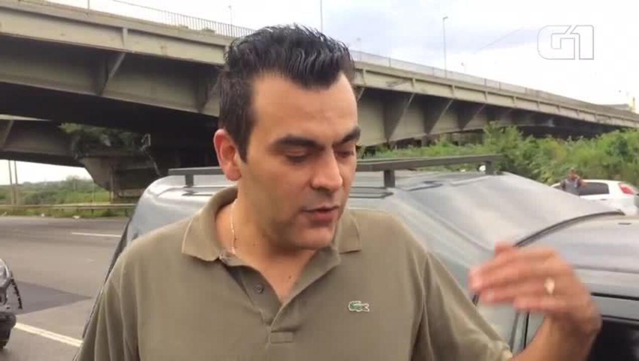 Motoristas que passavam quando asfalto cedeu 2 metros em SP relatam 'cena de cinema'
