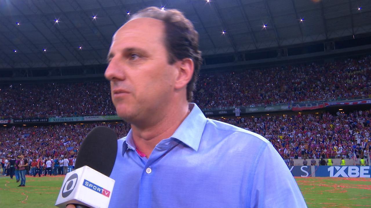 Rogério Ceni fala após conquista do título de campeão da Série B com o  Fortaleza bd32c9db3d23c