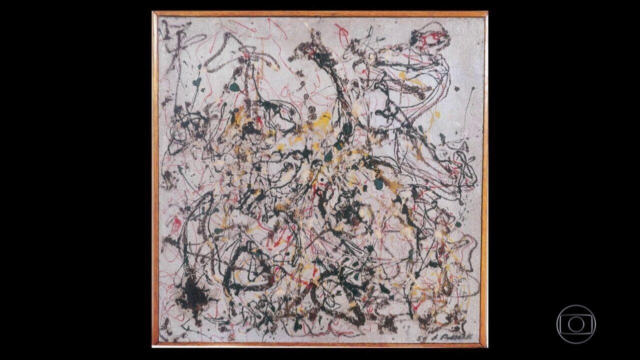 Único quadro de Pollock exposto no Brasil vai a leilão, mas não atinge lance mínimo