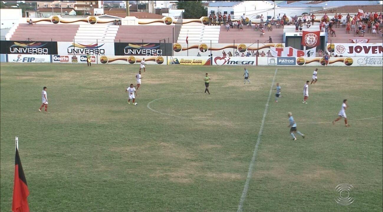 Esporte de Patos goleia a Perilima e abre vantagem na final da 2ª divisão do Paraibano