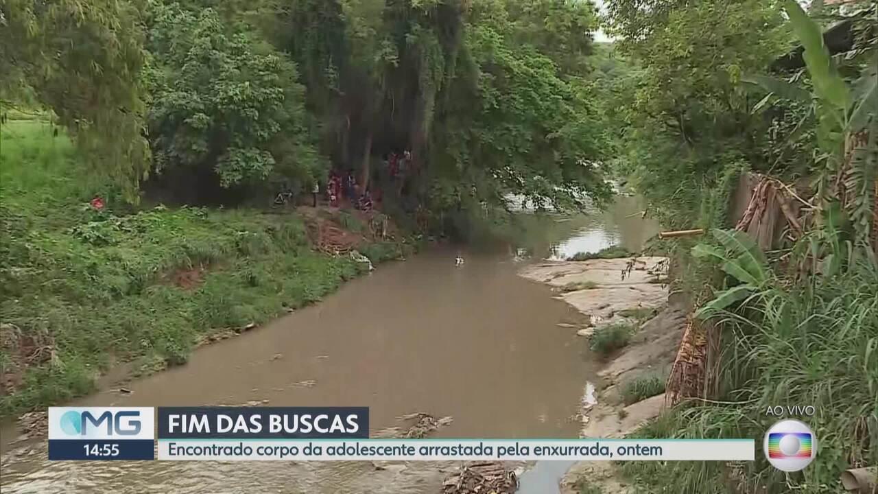 Corpo de jovem desaparecida em enxurrada durante chuva de BH é retirado de córrego