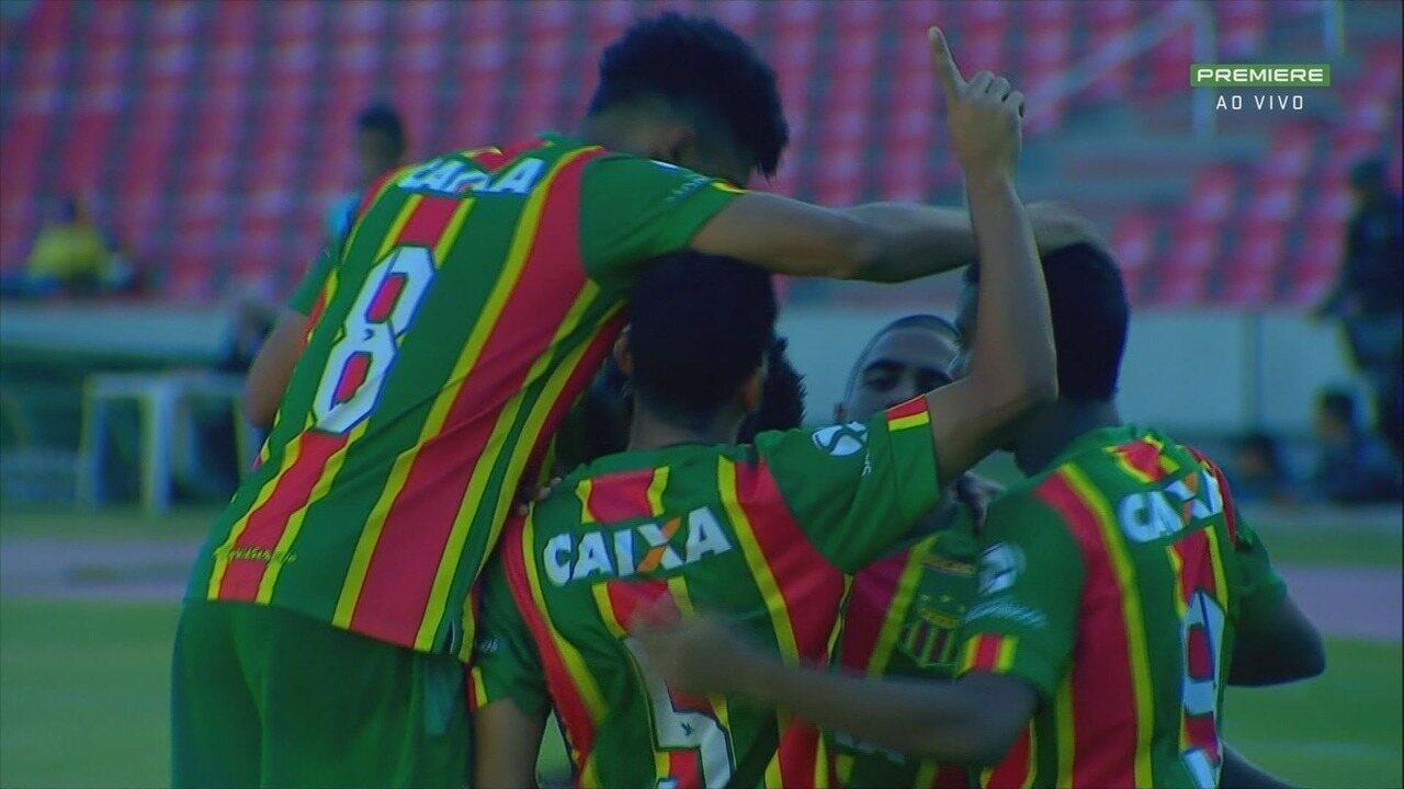 Veja os melhores momentos da partida entre Sampaio Corrêa e Boa Esporte pela Série B