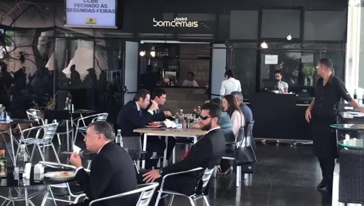 Moro almoçou com delegados da PF no Centro Cultural Banco do Brasil, em Brasília
