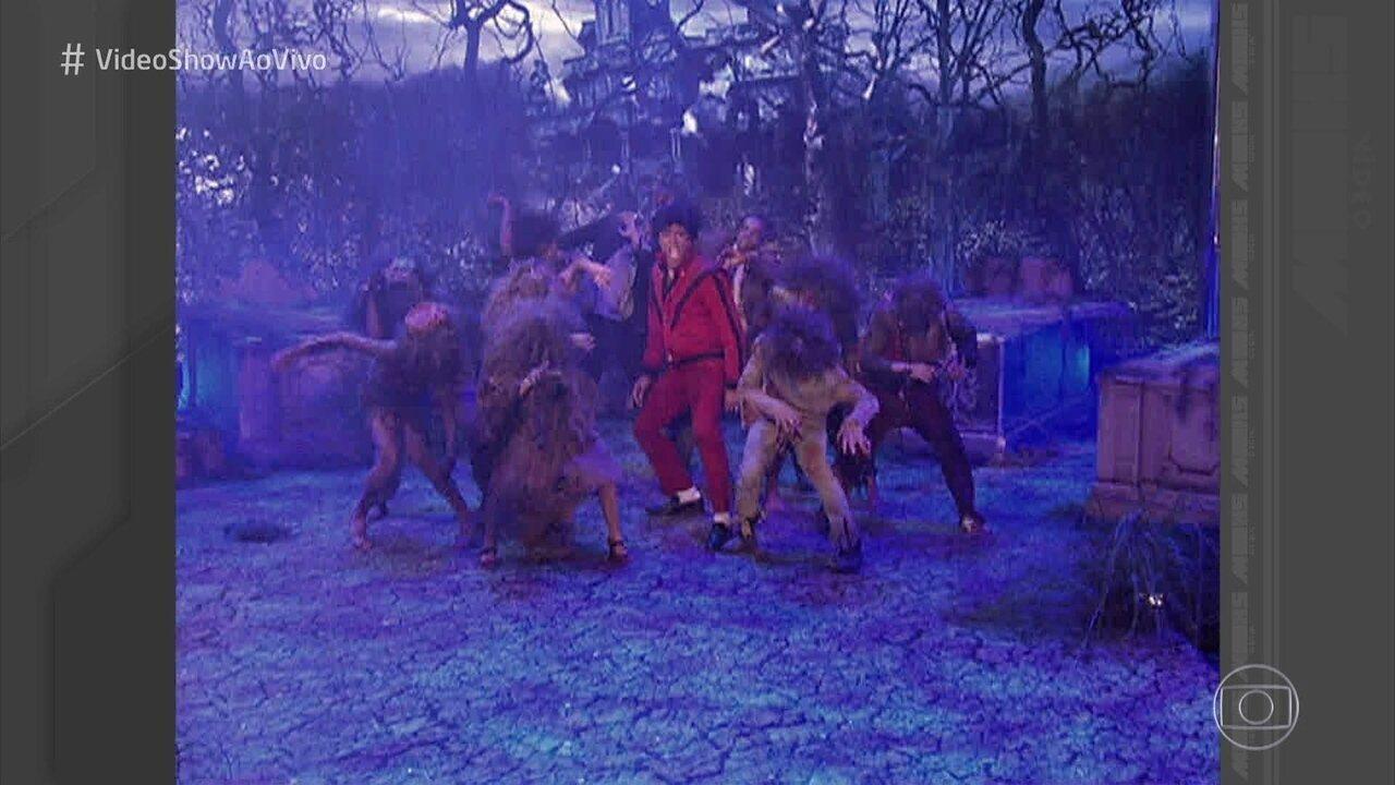 Vídeo Show faz compilado de programas para homenagear os 35 anos de 'Thriller'