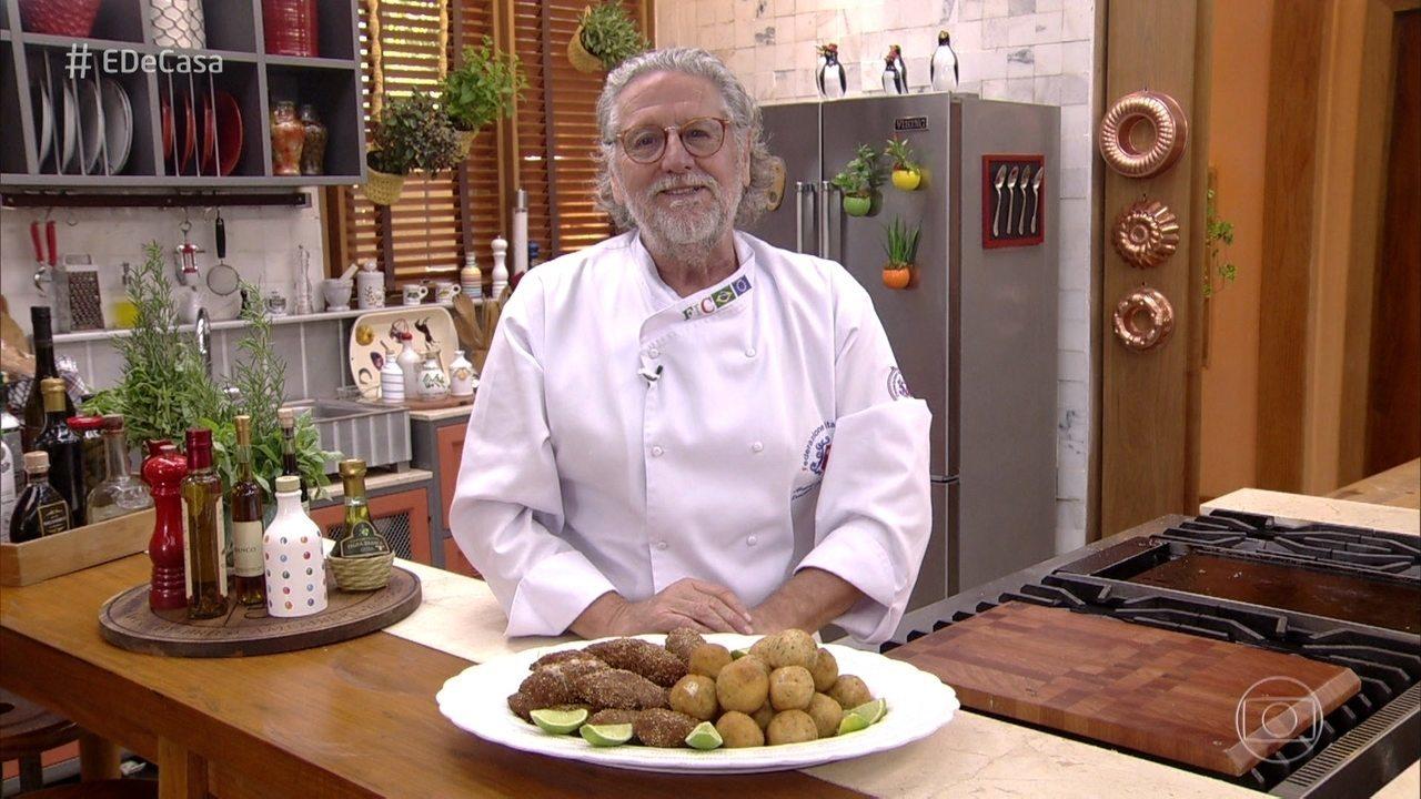 Roberto Ravioli ensina a fazer salgadinhos práticos