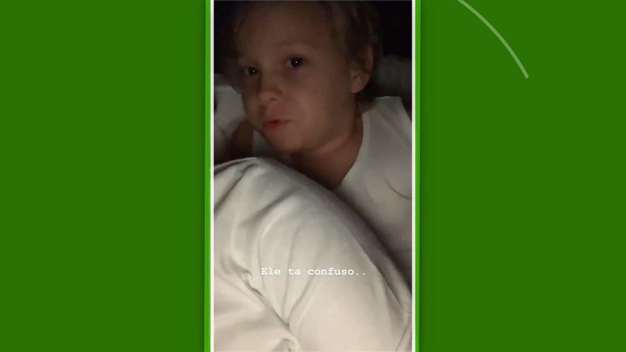 Em vídeo, filho de Neymar se mostra dividido entre Santos e Palmeiras