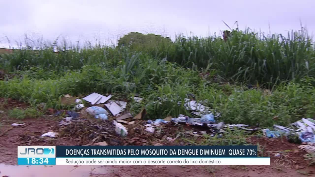 Doenças transmitidas pelo mosquito da dengue dimuem quase 70% em RO
