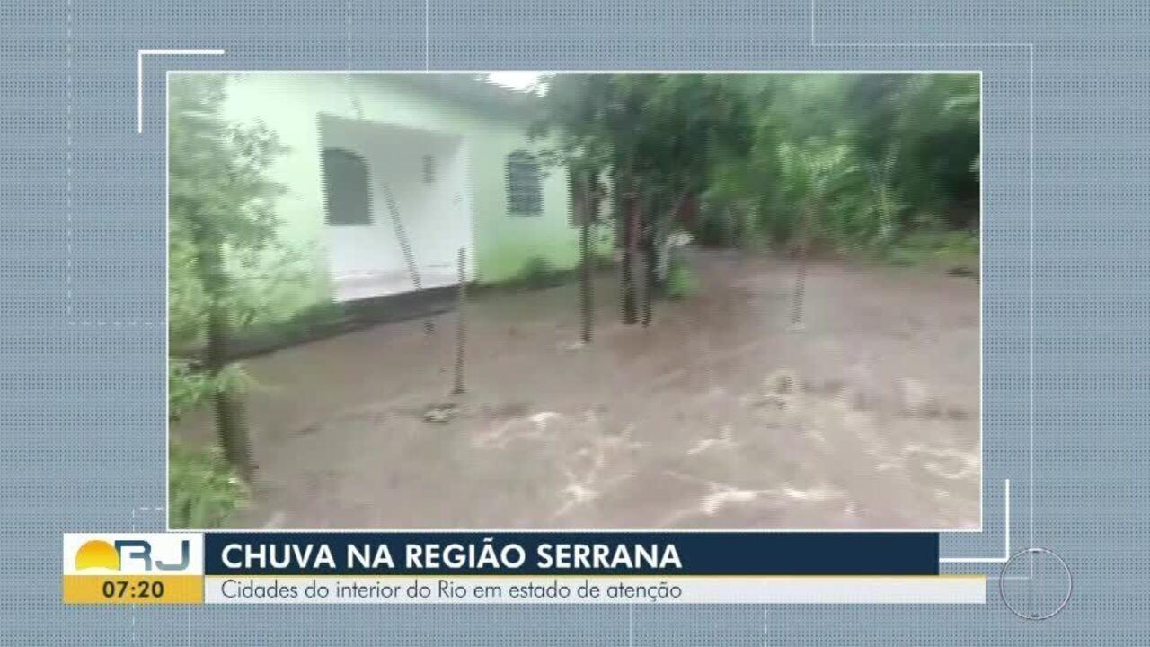 Cidades do interior do Rio foram atingidas pela chuva
