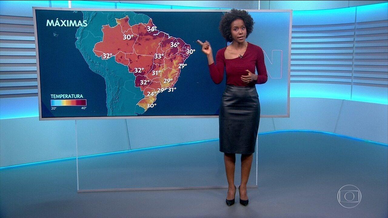 A previsão do tempo com Maria Júlia Coutinho