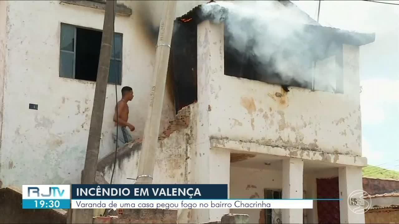 Princípio de incêndio atinge casa no bairro Chacrinha, em Valença