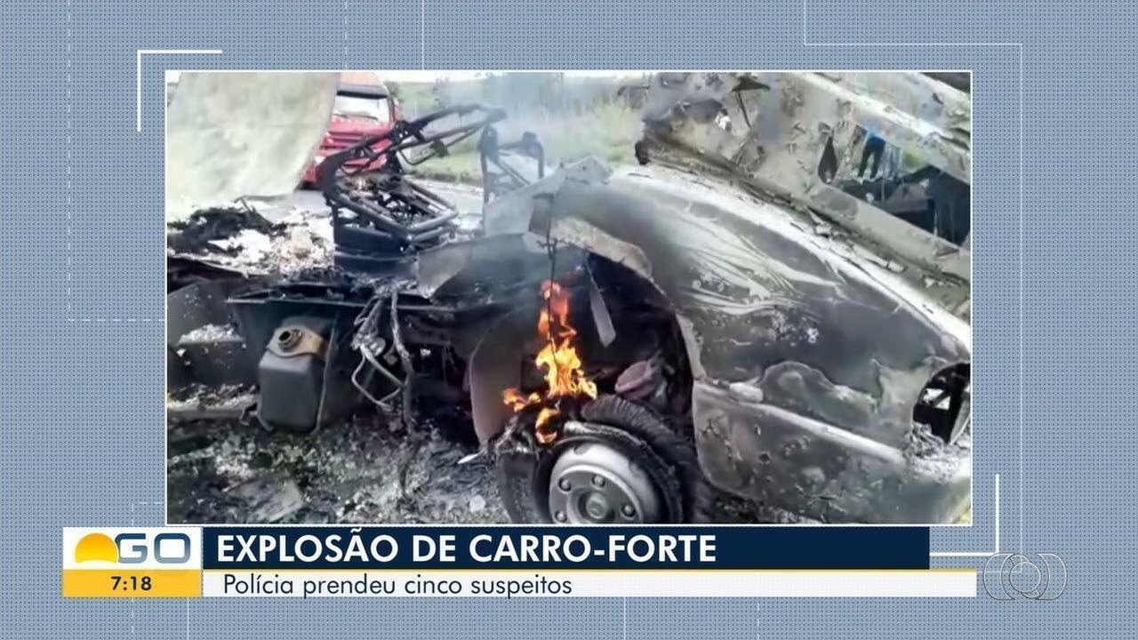 Cinco pessoas são presas suspeitas de elo com explosão de carro-forte na BR-040