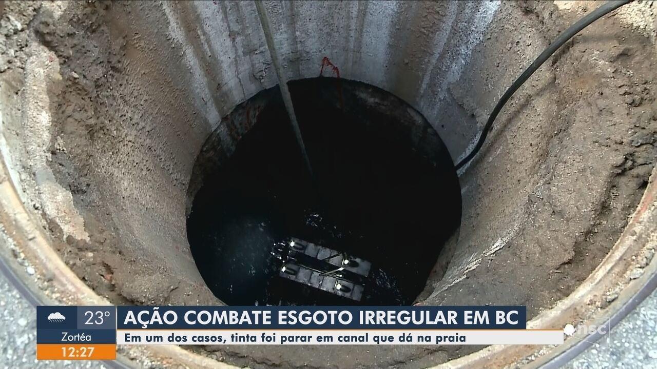 Ação contra esgoto irregular acontece em Balneário Camboriú