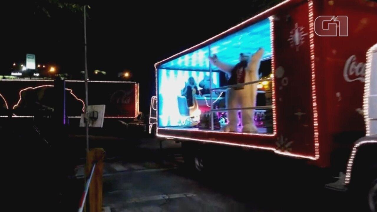Caravana de Natal da Coca-Cola vai passar por 22 cidades da região de Sorocaba