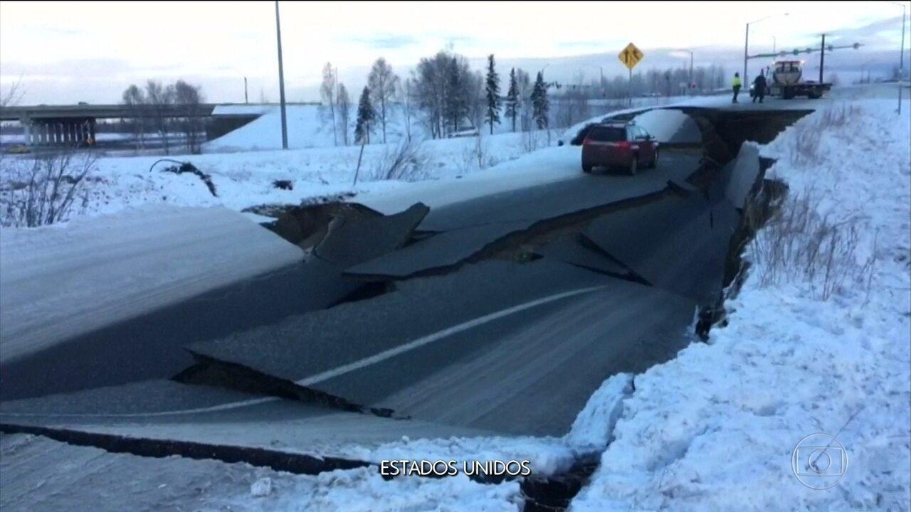 Terremoto de magnitude 7 sacode o Alasca