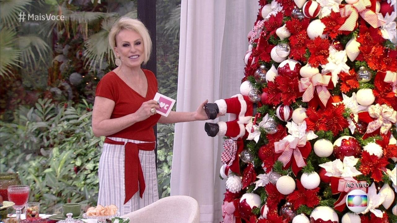 Ana Maria mostra a decoração natalina do Mais Você