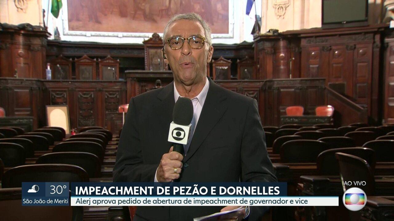 Mesa diretora da Alerj aprova pedido de impeachment de Pezão e Dornelles
