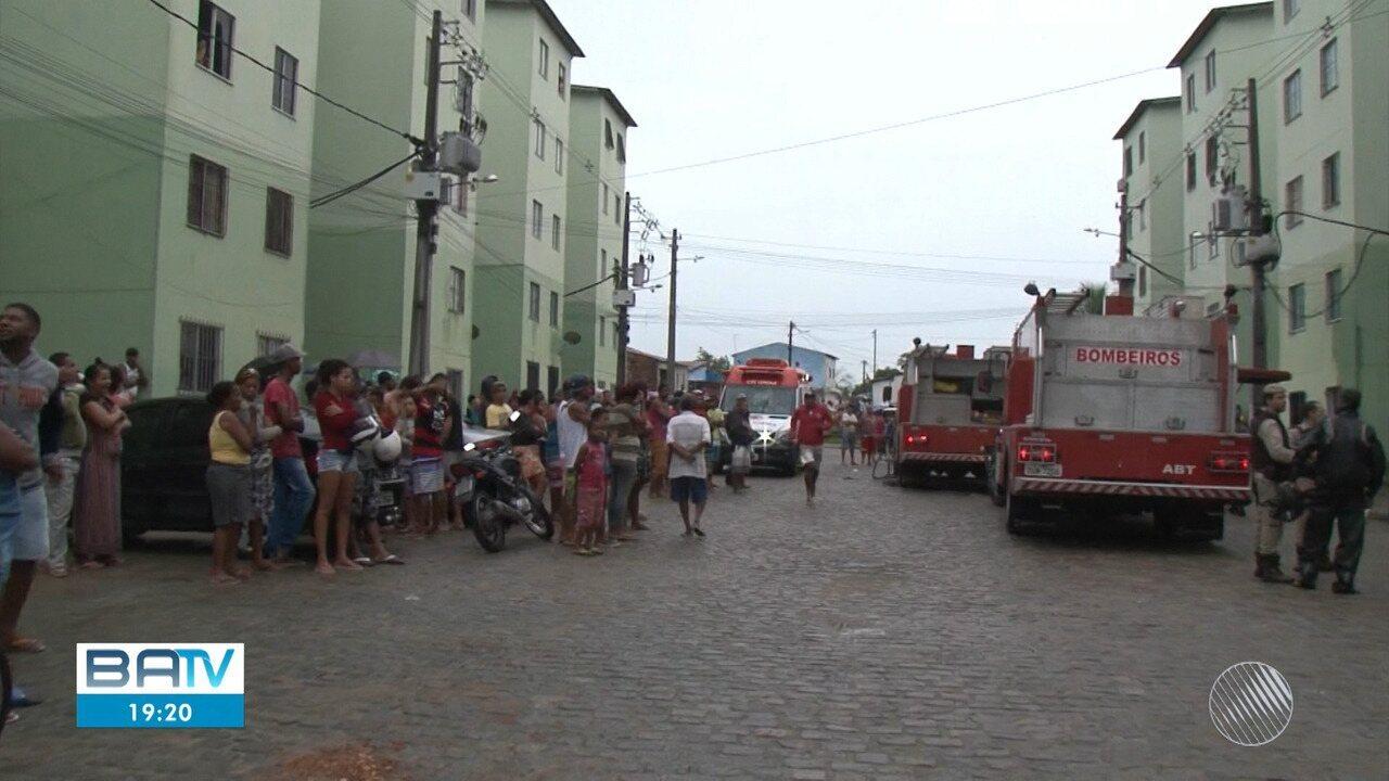 Uma pessoa morre e sete ficam feridas após incêndio em condomínio de Feira de Santana