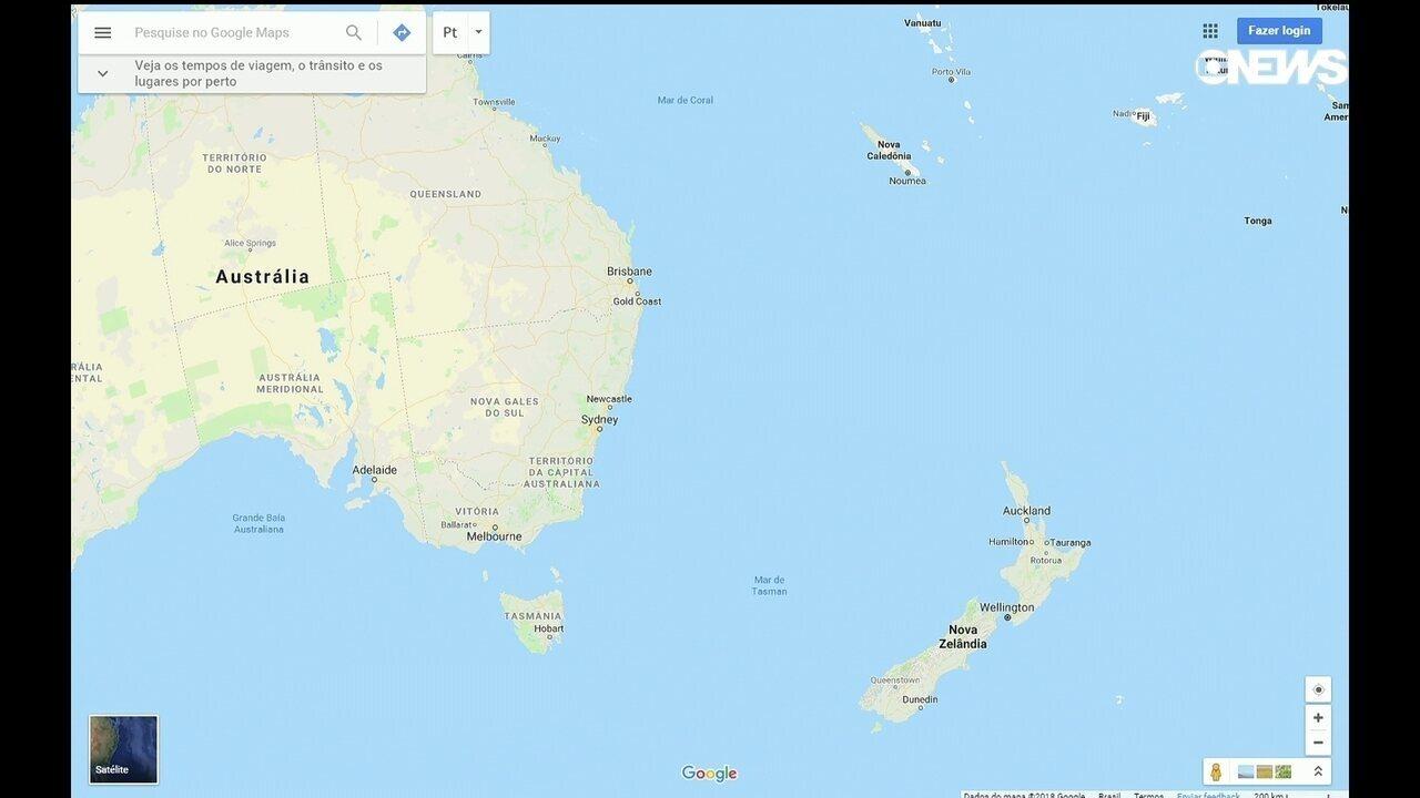 Forte terremoto de magnitude 7,5 atinge região do Pacífico Sul