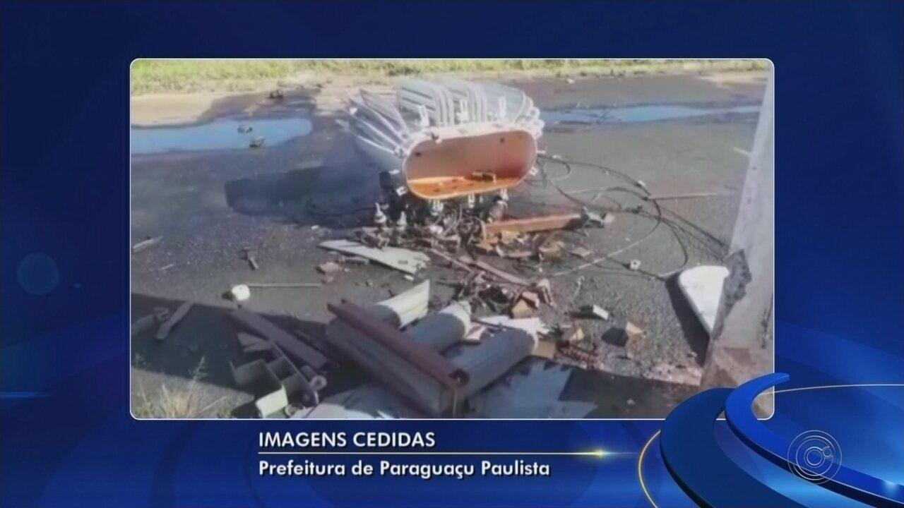 Vândalos destroem transformadores para roubar fios em Paraguaçu Paulista