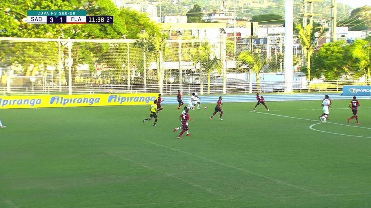 Melhores momentos: Flamengo 1 x 3 São Paulo pela Copa RS de futebol sub-20