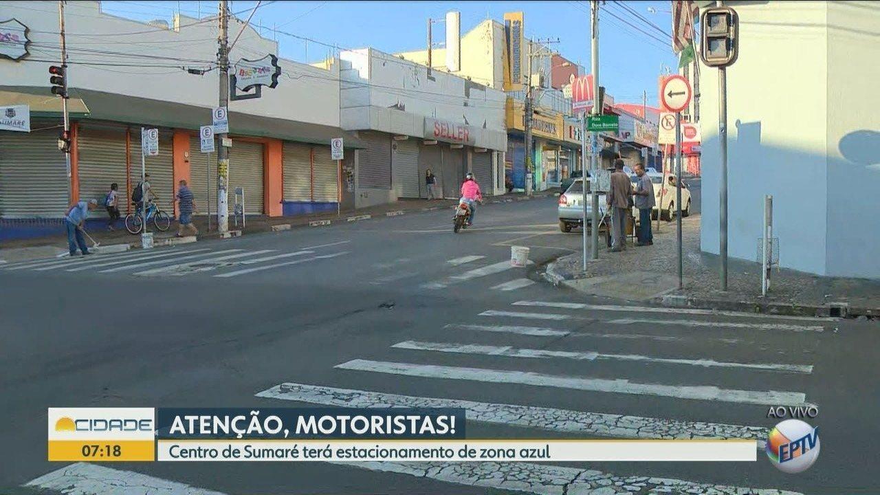 Sumaré passa a cobrar Zona Azul nas ruas do centro