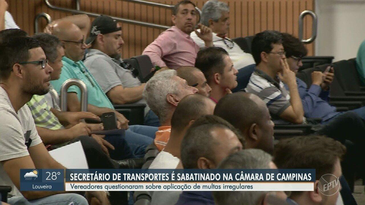Vereadores de Campinas questionam secretário de transportes